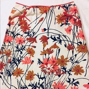 Anthropologie Elevenses Floral Skirt